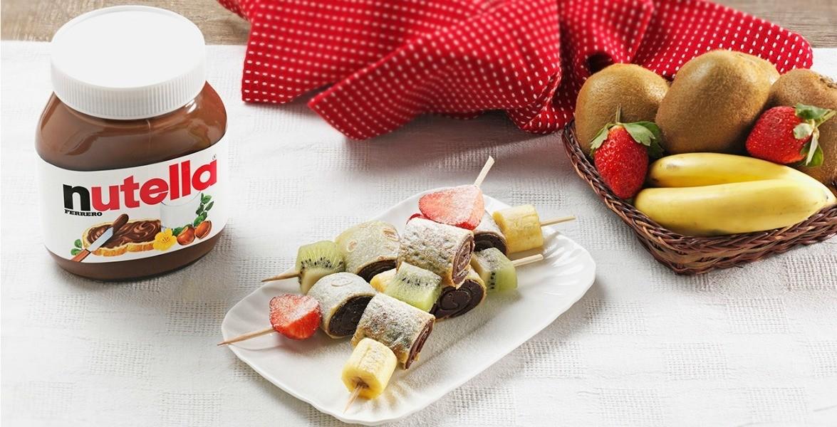Ingrediente Nutella – Spiedini di Crepes con Nutella