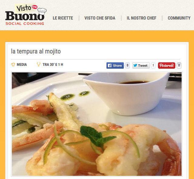visto che buono tempura al mojito